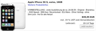 iPhoneohneVertrag.com: iPhone 3GS Pre-Order