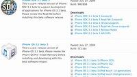 Developer: iPhone OS & SDK 3.1 Beta 3 veröffentlicht [Upd.]
