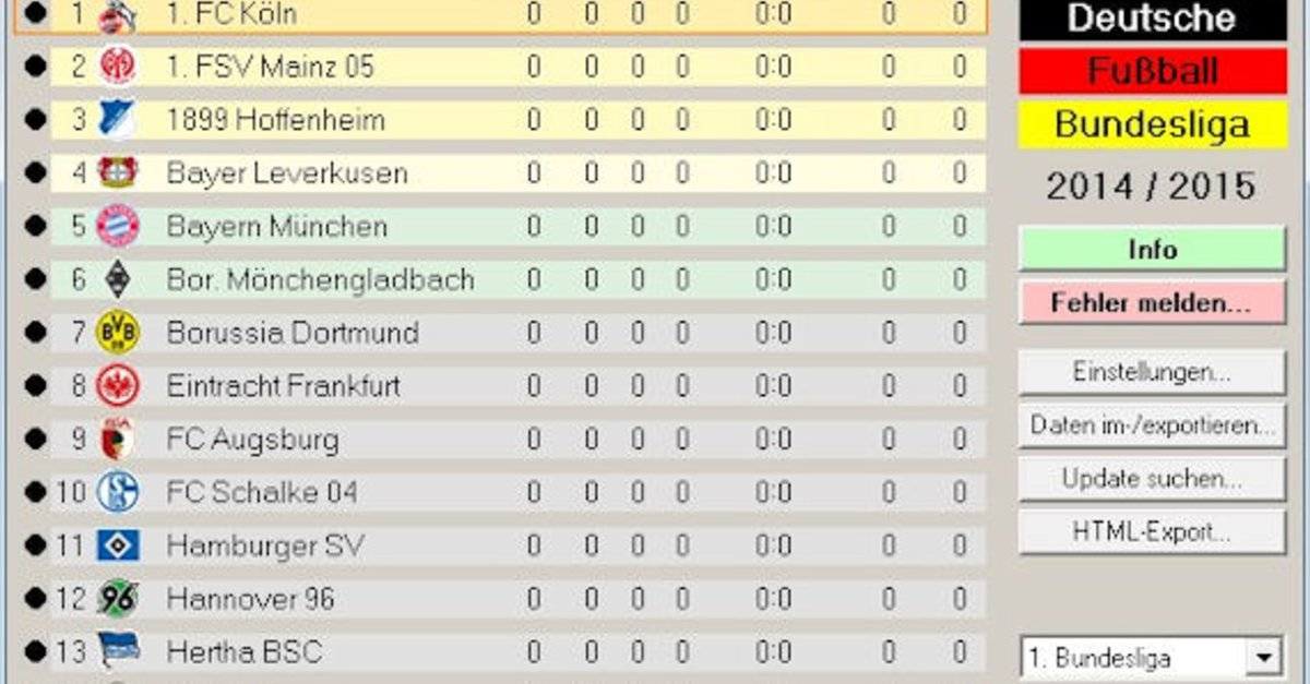 Blt die bundesliga tabelle download oktober 2017 giga for Tabelle bundesliga 1