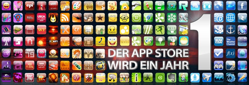Geburtstag: AppStore wird 1 Jahr alt