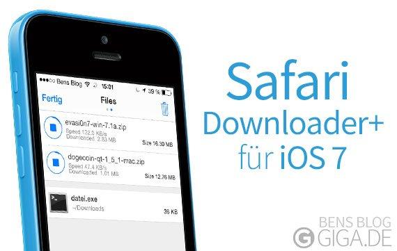 Safari Downloader+: Download Manager für den Mobile Safari [Cydia]