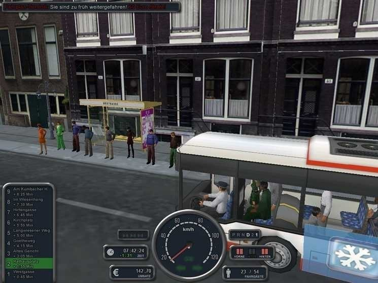 bus spielen fahren