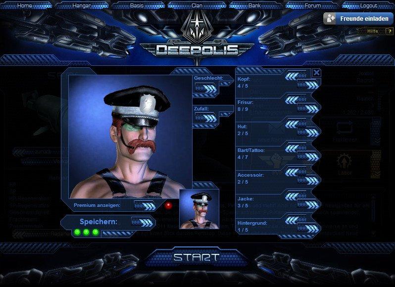 Deepolis: Der Avatar-Creator besitzt eine eingeschränkte und fragwürdige Wahl an Aussehenskonfigurationen