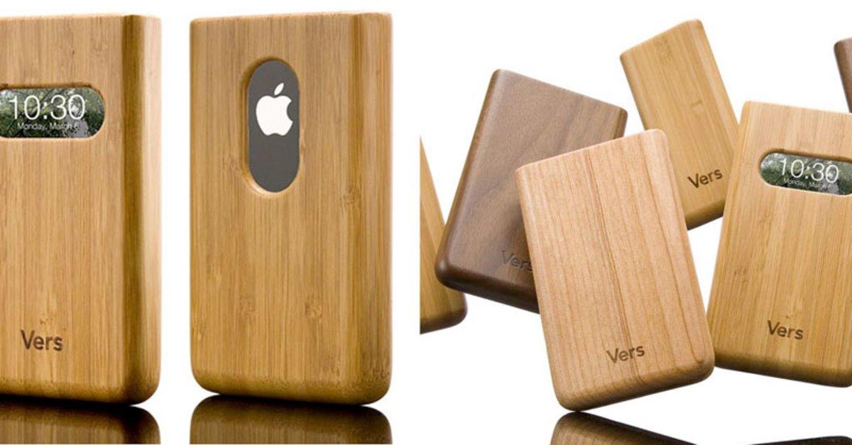 zubeh r holz bambus cases f r iphone ipod giga. Black Bedroom Furniture Sets. Home Design Ideas