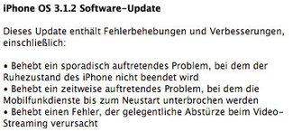 Firmware 3.1.2: Apple veröffentlicht iPhone OS Update [Upd.]