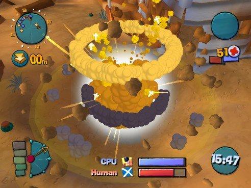 Worms 4 - Mayhem: In 3D sehen die Explosionen gleich doppelt gut aus