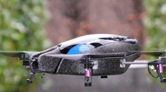 AR.Drone: Hubschrauber-Drohne mit iPhone Fernsteuerung