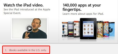 iBookstore nur in den USA