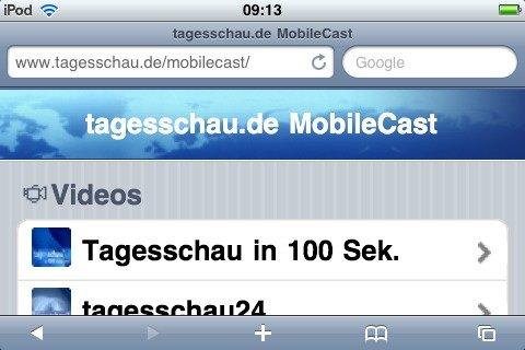 Tagesschau MobileCast: Tagesschau fürs iPhone