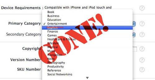 """Kurz-Auftritt: Kategorie """"Explicit"""" für den AppStore"""
