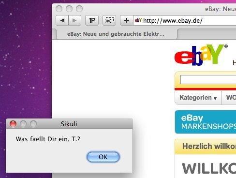 Sikuli: Programmieren mit Screenshots
