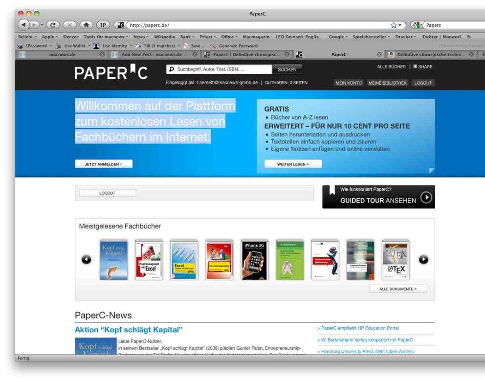PaperC: Fachbücher kostenlos lesen