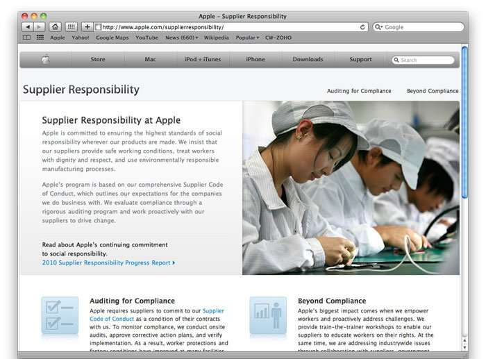 Apple zum Thema Supplier Responsibility