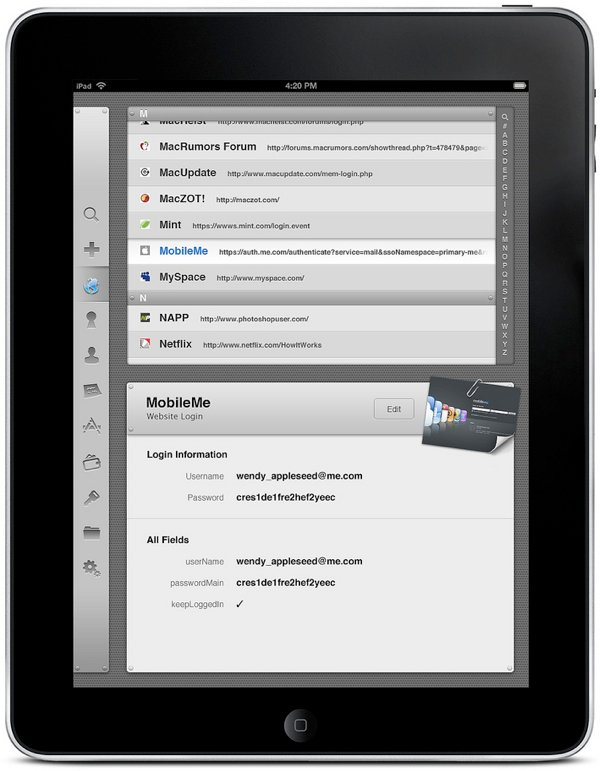 iPad: Safari-Videotour und 1Password-App