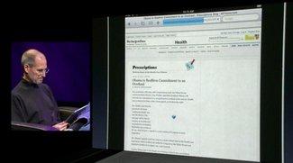 Steve Jobs: iPad-Batterielaufzeit läge mit Flash bei anderthalb Stunden