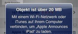 Apple erlaubt 3G-Downloads bis zu 20 MB [Update]