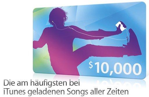 Top 25: Meistgeladene Songs in iTunes