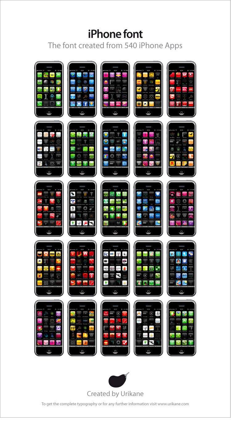 iPhone-Font aus App-Icons