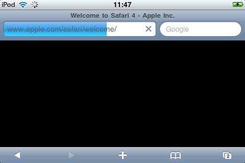 Apple-Website bringt Mobile Safari zu Fall