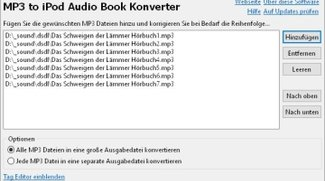 MP3 to iPod Audiobook Converter