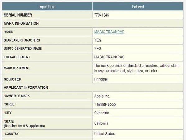 """Apple will Markennamen """"Magic Trackpad"""" schützen lassen"""