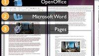 Illustrierter Vergleich: Bilder in OpenOffice, Word und Pages einfügen