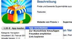 Geschenkoption für App Store - Apps in iTunes