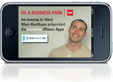 CeBIT: macnews.de stellt iPhone-Apps vor