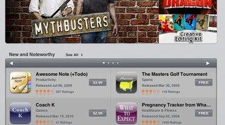 Screenshots und Video vom iPad-App Store und den iPad-Apps