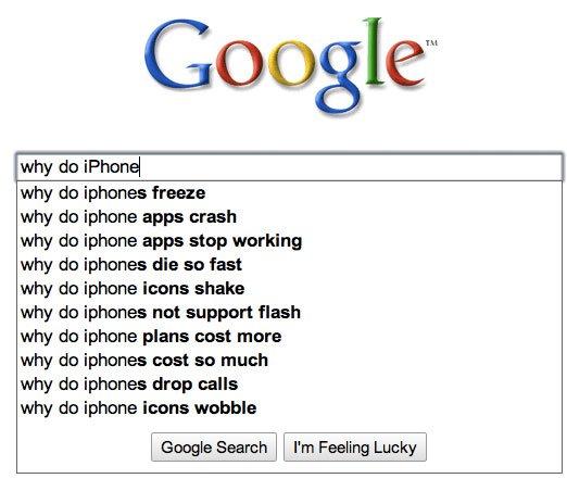 Fail of the Day: Googles absolut objektive Suchvorschläge