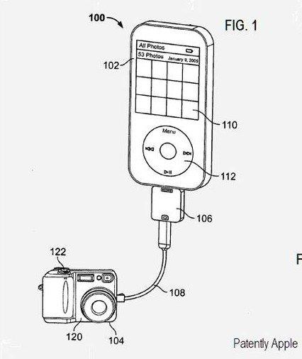Patent: Direkte Verbindung von der Digitalkamera zum iPhone/iPod