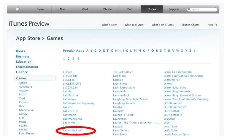 AppStore: Erste iPad-Spiele als HD-Version kurzzeitig verfügbar