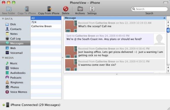 PhoneView: iPhone-Nachrichten einfach sichern