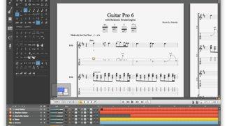 Guitar Pro 6 mit neuer Benutzeroberfläche und Real Sound Engine