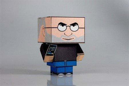 Steve Jobs aus Papier gefaltet