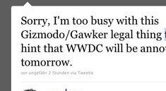 Daring Fireball: WWDC-Termin folgt innerhalb 24 Stunden