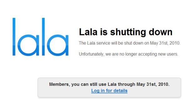 Lala geht, iTunes.com könnte folgen
