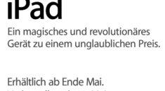 iPad erst ab Ende Mai