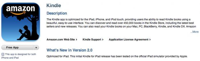 Kindle jetzt im iPad AppStore