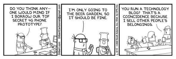 Dilbert-Comics zum iPhone-Prototypen