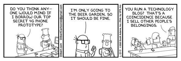 Dilbert-Comics zum iPhone-Prototypen