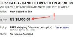 Internationale iPad-Verkäufe: Bis zu 5.000 $ für ein iPad