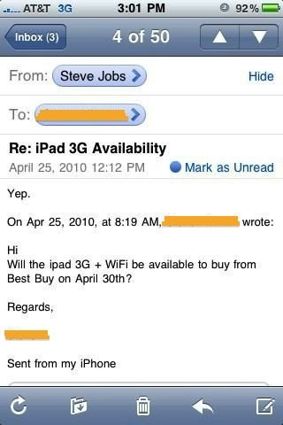 Jobs: iPad 3G ab 30. April bei Best Buy