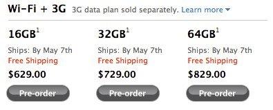 iPad 3G Verkaufsstart
