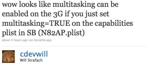 Multitasking fürs iPhone 3G?