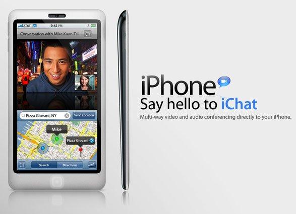 iPhone 4G: iChat und Videotelefonie
