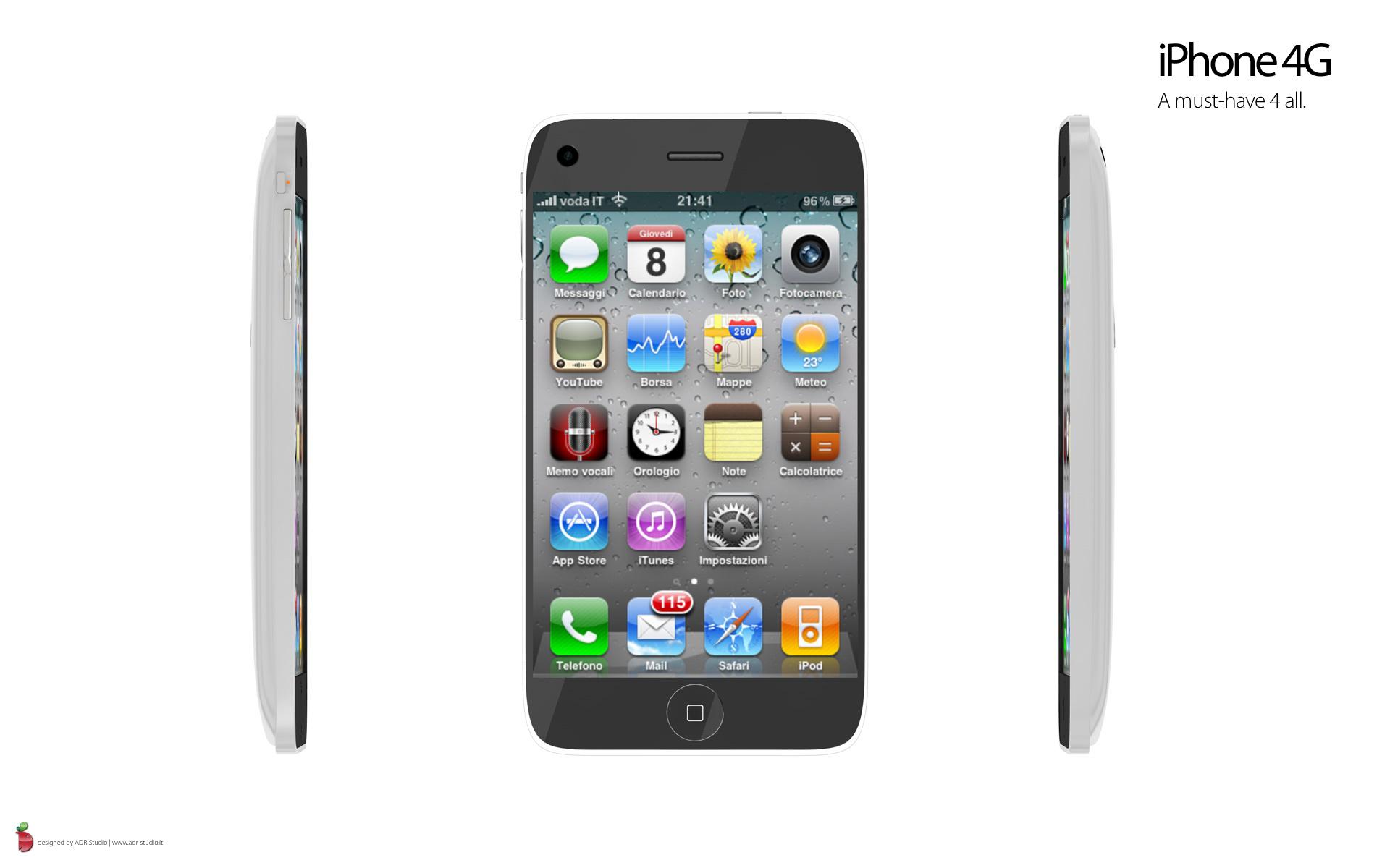 iphone 4g neues konzept mit os 4 0 giga. Black Bedroom Furniture Sets. Home Design Ideas