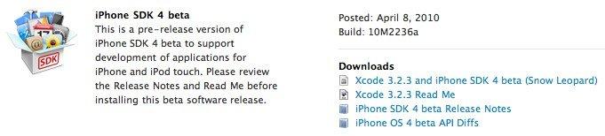 iPhone SDK4 bereits für Entwickler verfügbar