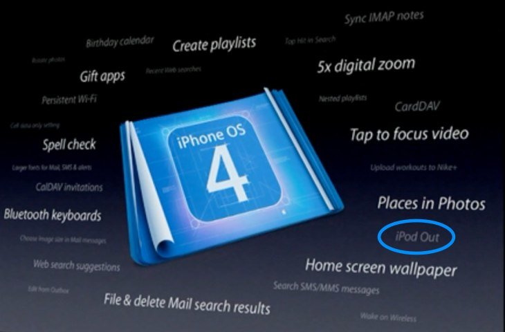 iPhone OS 4.0: iPod Out