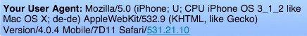 Mobile Safari User Agent
